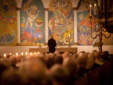 Billede af prædiken i Ribe Domkirke